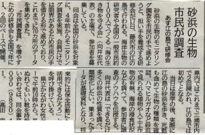 20140517江ノ島 砂浜海岸生物調査報告3